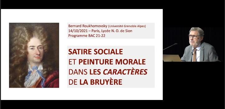 JOURNÉE D'ÉTUDES « La Bruyère » - Partie 1/2