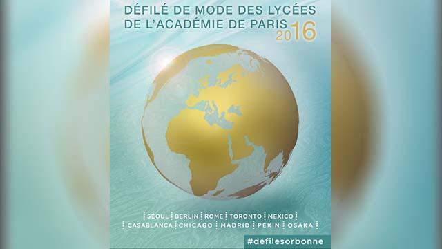 DEFILE DE MODE DES LYCEES DE L'ACADEMIE DE PARIS 2016