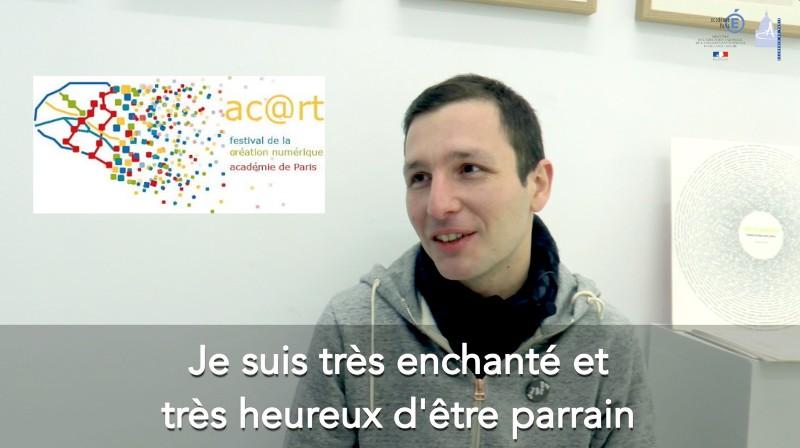 Julien Levesque, parrain du festival ac@rt