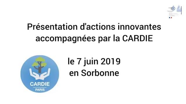 Présentation d'actions pédagogiques innovantes accompagnées par la CARDIE