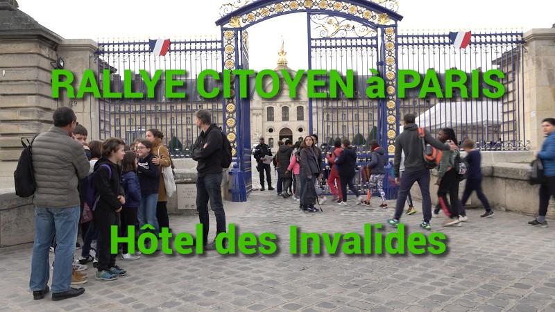 Rallye citoyen à l'Hôtel national des Invalides pour des élèves de CM2 et 6ème.