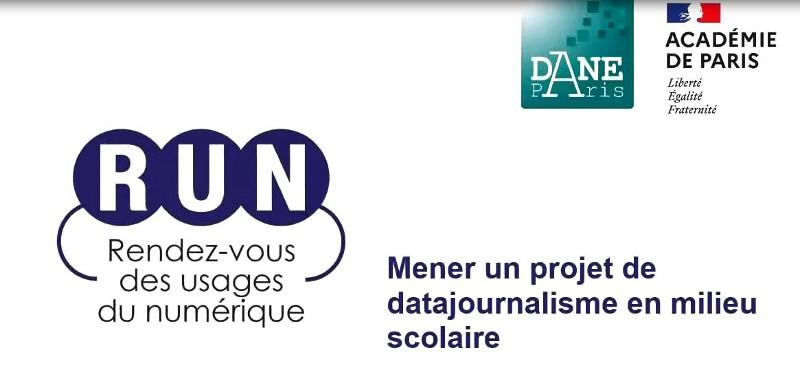RUN-Mener un projet de datajournalisme en milieu scolaire