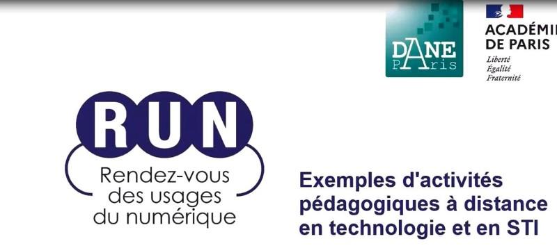 RUN-Exemples d'activités pédagogiques en technologie et en STI